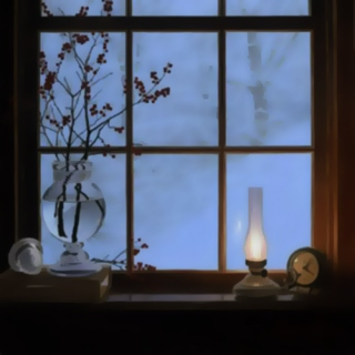 winter night in a warm room