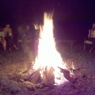 backwood bonfire.