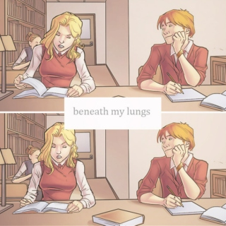 beneath my lungs