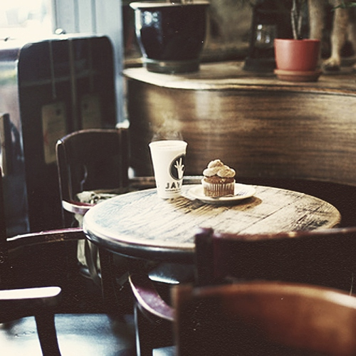 in this old cafe