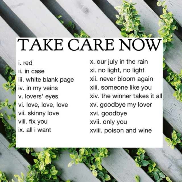 Take care now