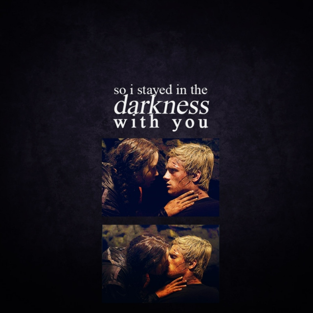 so i stayed in the darkness with you