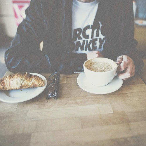 falling in love with you at a coffee shop.