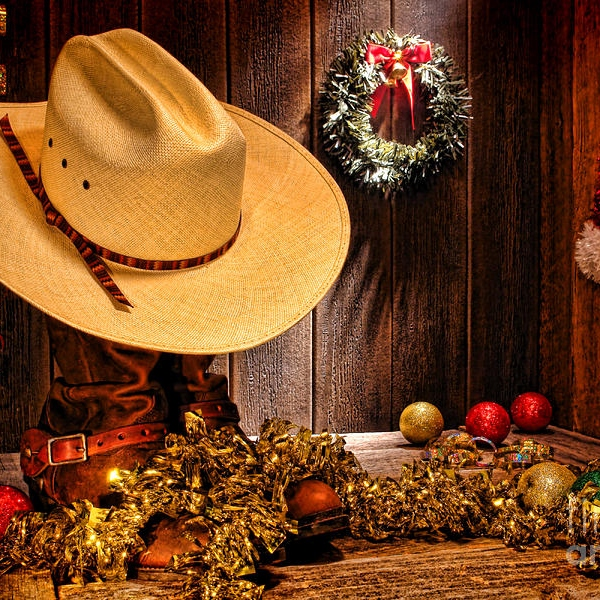 Cowboy and swing jazz Christmas