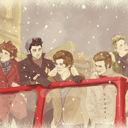 Putting up a Christmas three with 1D ❄☃❄
