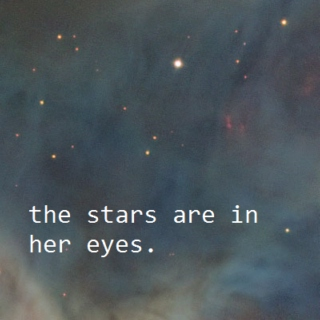 the stars are in her eyes.
