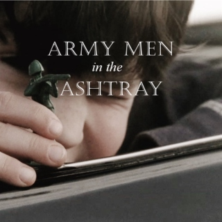 Army Men in the Ashtray