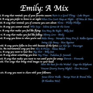 Emily: A Mix [Fanmix Yourself]