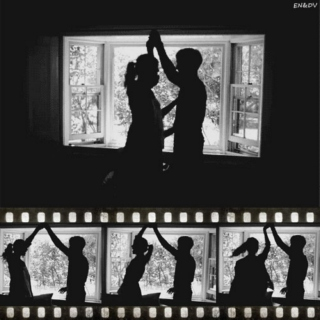 Slow dancing in a lovely room.