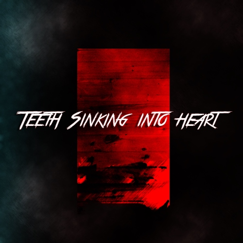 teeth sinking into heart.