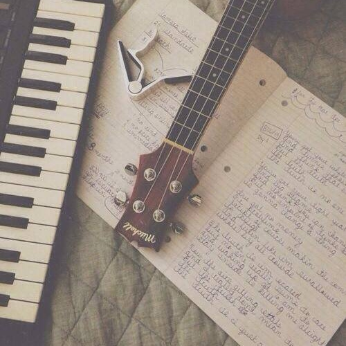 My piano and his guitar
