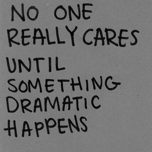 When You Feel Like No One Cares