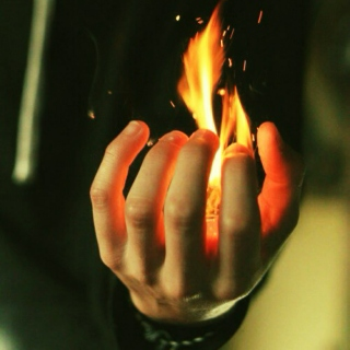 your hands protect the flames