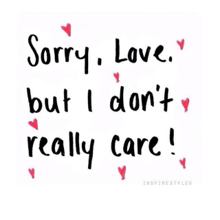 I simply do not care.