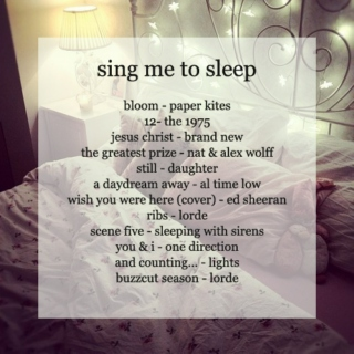 sing me to sleep ♫