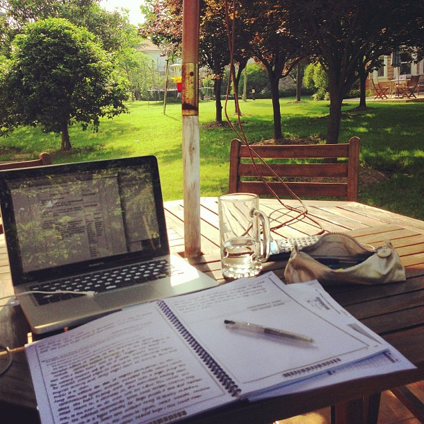 study days and cafes