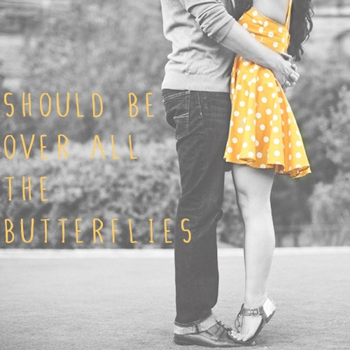 should be over all the butterflies