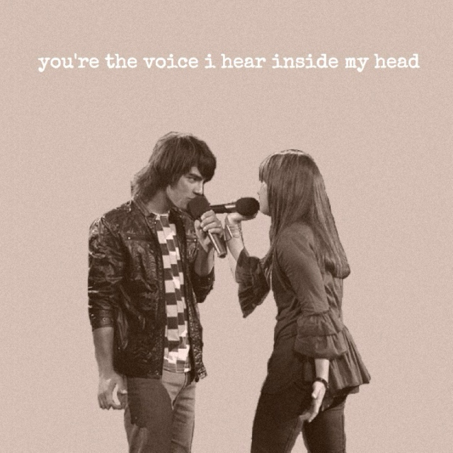 you're the voice i hear inside my head