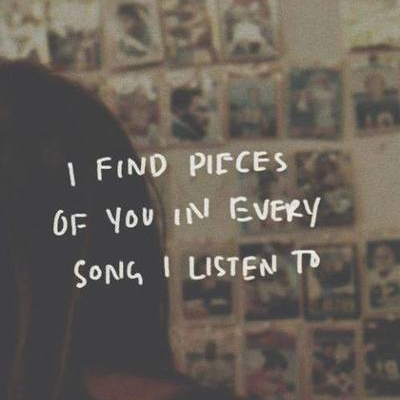 In every song I listen to...