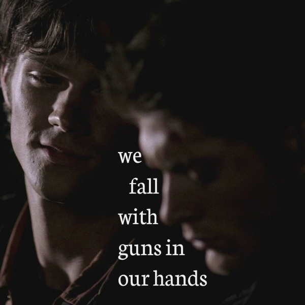 we fall with guns in our hands