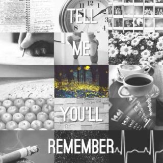 tell me you'll remember
