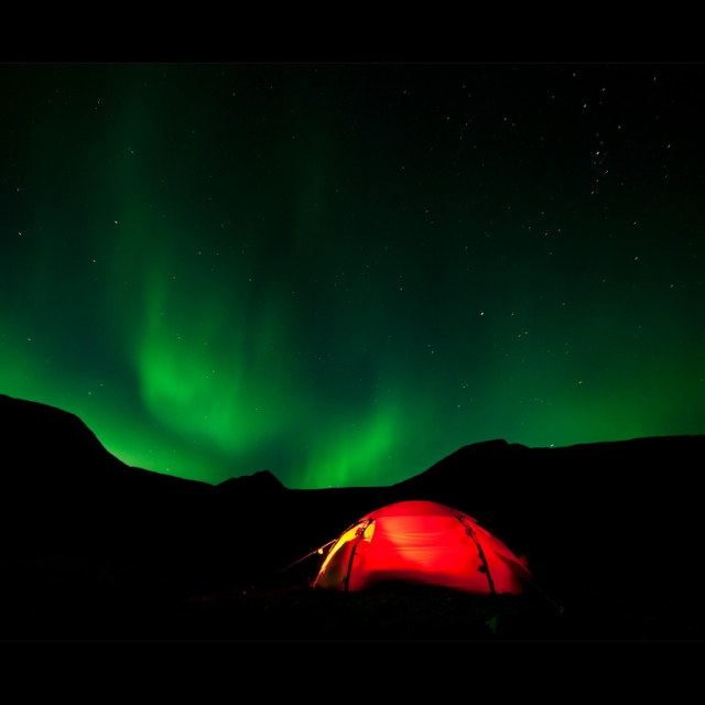 behind the northern light´s