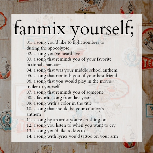 fanmix yourself;
