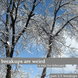breakups are weird: 1/3 breakups