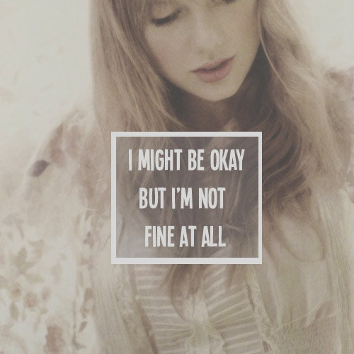 im not fine at all