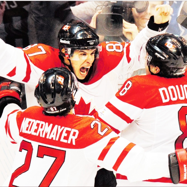 there's no weight that we won't shoulder we all play for canada!