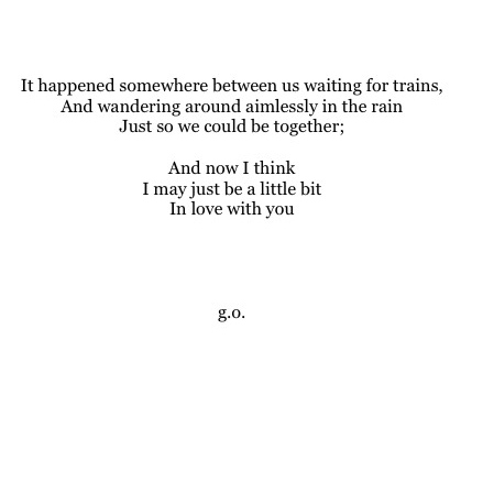 for my one and only.
