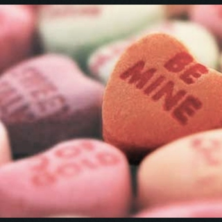 candy hearts and kisses