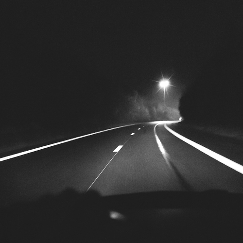 cruising at night.