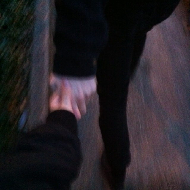hold my hand and never let go