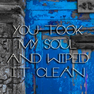 You took my soul and wiped it clean.