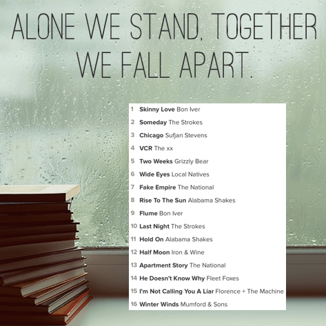 Alone we stand, together we fall apart.