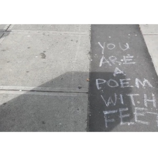 you are a poem with feet //