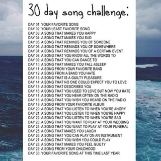 30 day song challenge ;