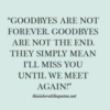 Time to say ... goodbye