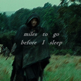 miles to go before I sleep...