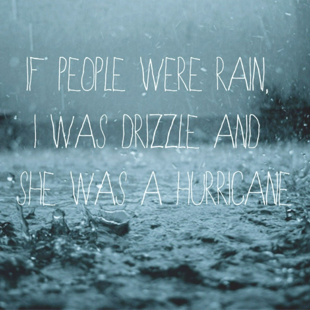 Drizzle and Hurricanes