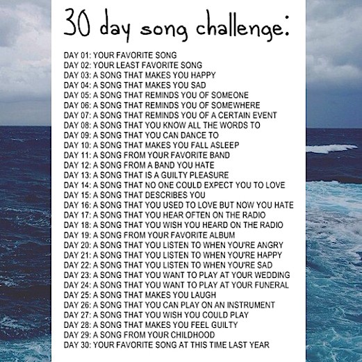*30 Day Song Challenge*