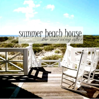 summer beach house: the morning after