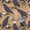 caffeinated crows