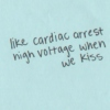 high voltage in her lips