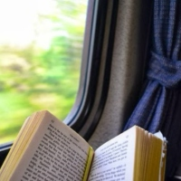 a book and a train ticket
