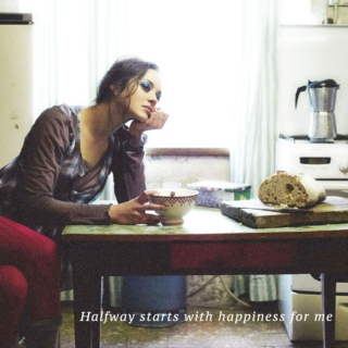 Halfway starts with happiness for me