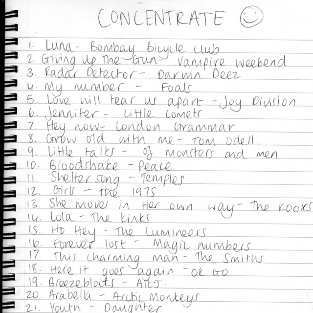 Concentrate.