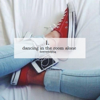 dancing in the room alone