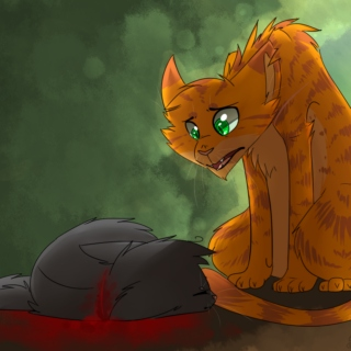 I am still painting flowers for you... [Fireheart x Cinderpelt]